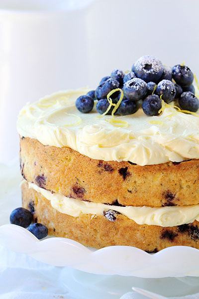 Blueberry Zucchini Cake With Buttercream Frosting