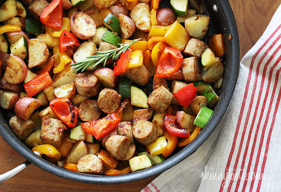 Summer Vegetables with Sausage and Potatoes | Skinnytaste ...