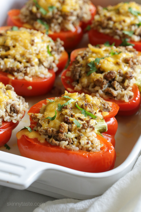 Turkey Stuffed Peppers | Skinnytaste | main line foodie