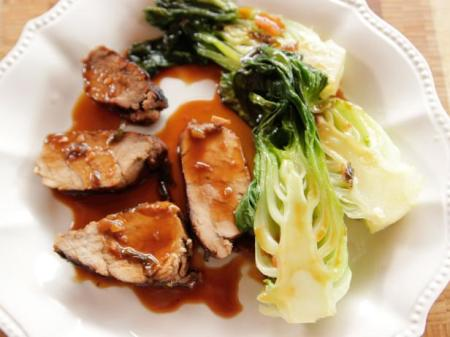 Grilled pork tenderloin with baby bok choy recipe ree drummond get grilled pork tenderloin with baby bok choy recipe from food network forumfinder Gallery